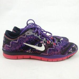 Nike Free 5.0 Tri Fit 4 Running Sneakers Purple 9